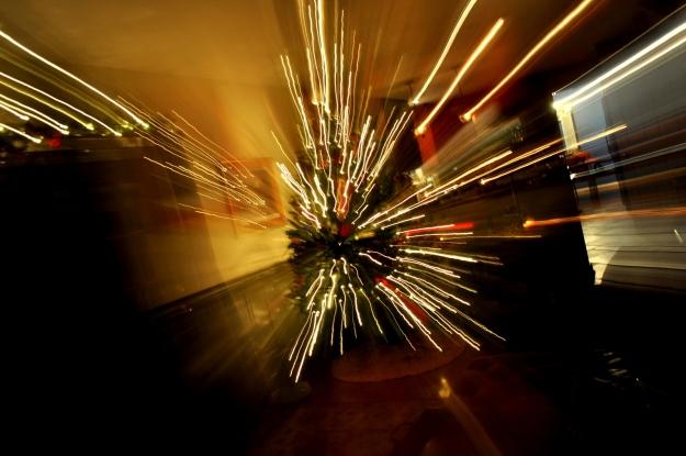 Christmas tree, christmas at light speed